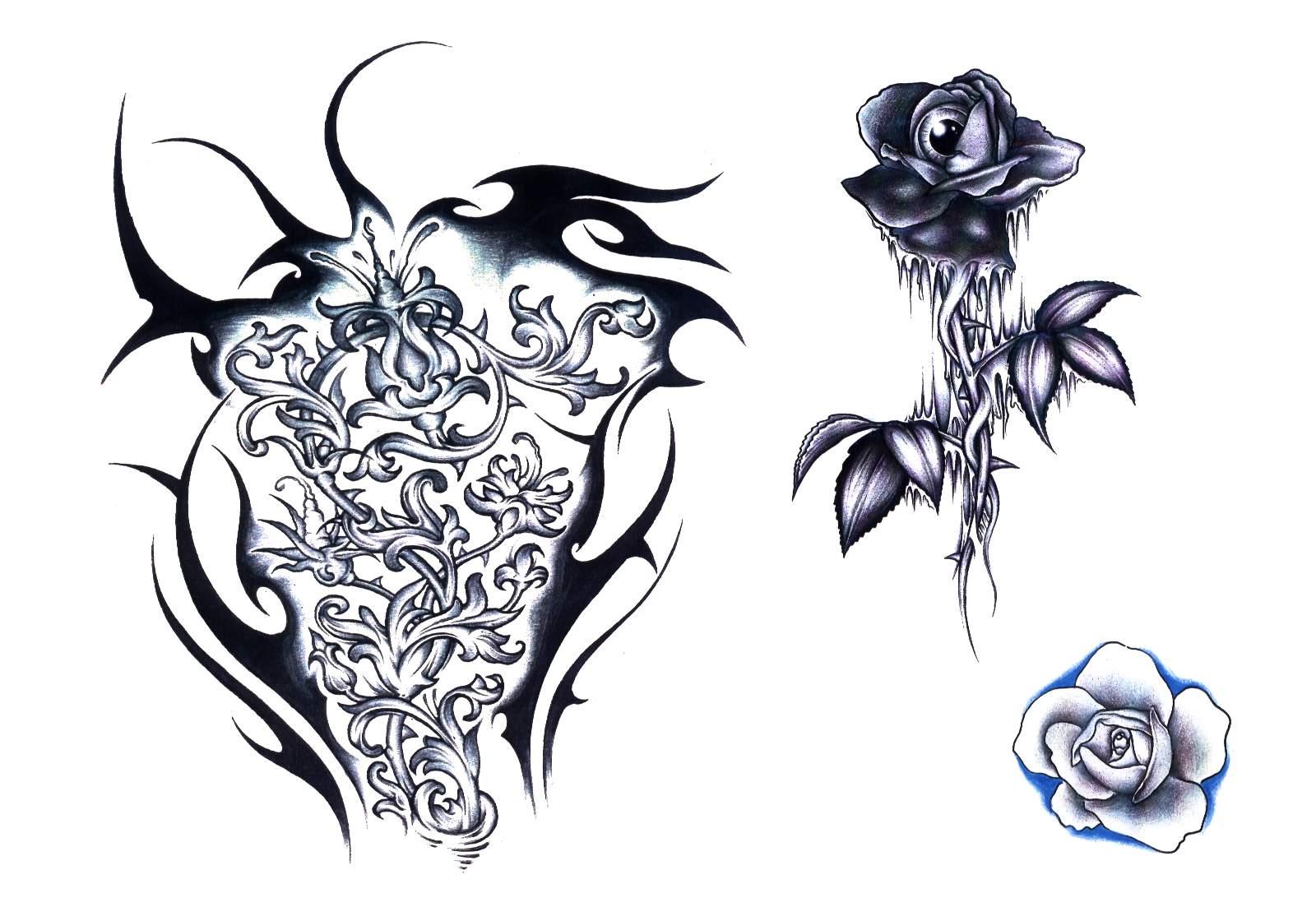 Tribal Mit Blumen Und Sternen Tattoo Page 2 Deto Forum picture