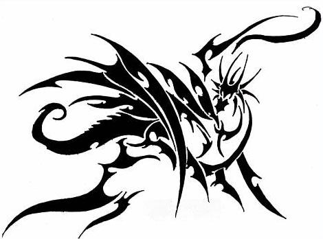 Tattoo Drache Tribal LiLzeu DE